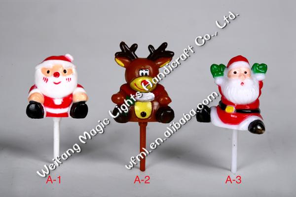 Cute Plastic Christmas Cake Decoration Santa Claus - Buy ...