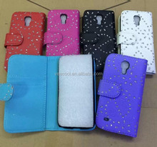 Diamond Bling Book Leather Case Cover for Samsung Galaxy S4 Mini i9190 Case