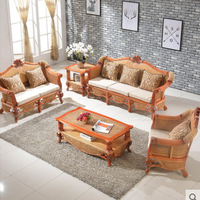 Luxury Living Room Natural Rattan Furniture