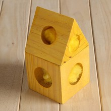 Wooden cheese house for hamster wooden cheese cage for rat mice