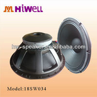 1000W RMS 18inch professional stage music speaker