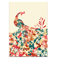 Whosale Stretched Artistic Peacock Canvas Printing Artwork Charming Bird Canvas Prints Modern Home Wall Decor 3-Panel