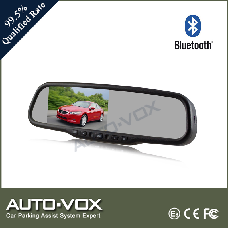 "4.3"" LCD RearView Mirror HD Video Camera Car Registrator With Bluetooth"