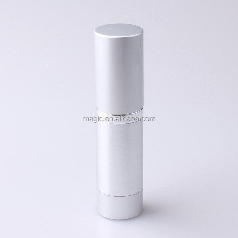 15 30 50 ml aluminium airless bottles for cosmetics