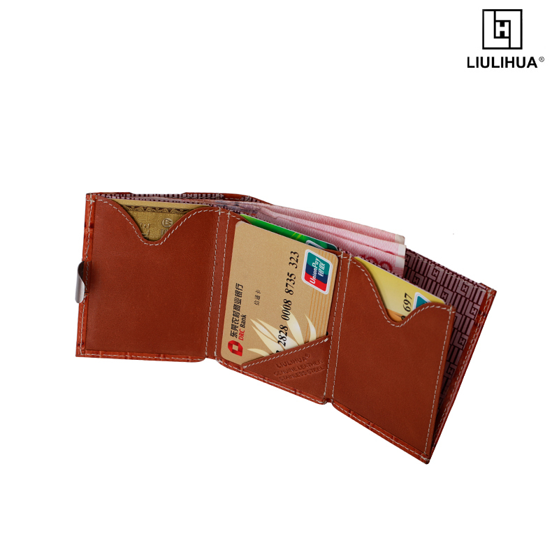 Factory Direct Price CROCO Leather Business Wallet With Stainless Steel Lock