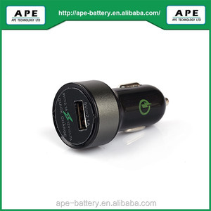 9V 2A Qualcomm QC2.0 USB car charger with CE ROHS FCC certification