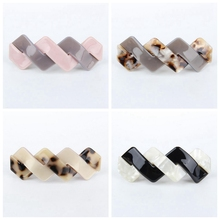 hand Making facncy acrylic goody hair accessory wholesale barrette
