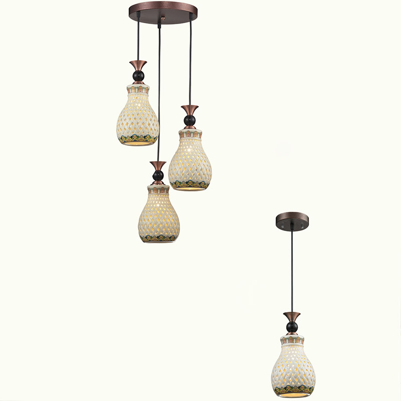 Factory direct ceramic shade led pendant light for online
