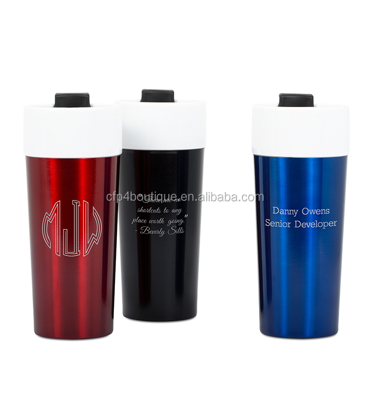 CFP A576 16 OZ Black Stainless Steel and Ceramic Tumbler