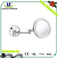 Wall LED magnifying mirror with touch switch