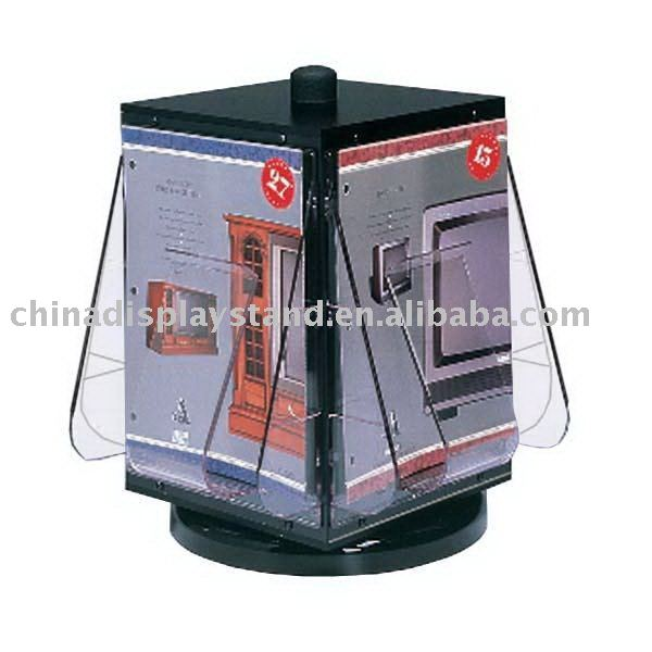 4 faces acrylic brochure stands, acrylic brochure display stand/rack, acrylic literature holder/ leaflet shelf