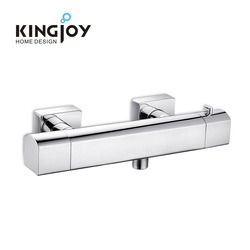 Latest design bathroom brass wall mounted chrome thermostatic mixers valve tap 4 way shower mixer