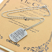 English Serenity Prayer Stainless Steel pendant Necklace Wholesale Men Bible Religious Fashion Jewelry