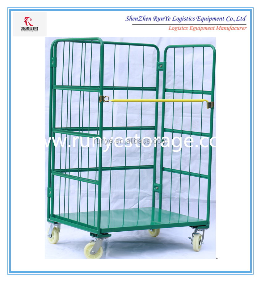 Logistic Trolley for warehouse/ Mobile cart/Steel Pallet/Rolling container(manufacturer)