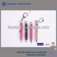 Promotional items mini metal ball pen with keychain or lanyard