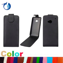 Open up and down pu leather flip case for HTC One M7