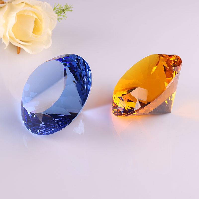 New style 80MM Faceted Decorative Sunny Crystal Glass Diamond for Wedding Souvenirs