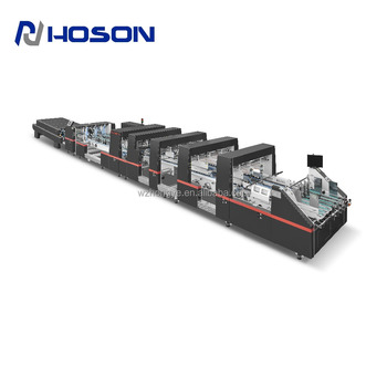 ZH-1800BFT Bottom Lock Carton Box Folding Gluing Machine