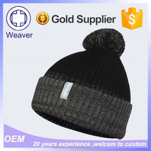 Selling Cute Black Beanie Hats with Top Ball