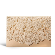 WISHMADE Custom Laser Cut Gold Anniversary <strong>Cards</strong> with Envelope Popular Islamic Wedding Invitations