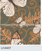 Flower PVC self-adhensive wallpaper to cover paneling