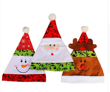 High Quality Soft Plush Adult Children Snowman Santa Claus Deer Cap Christmas Gif Hats