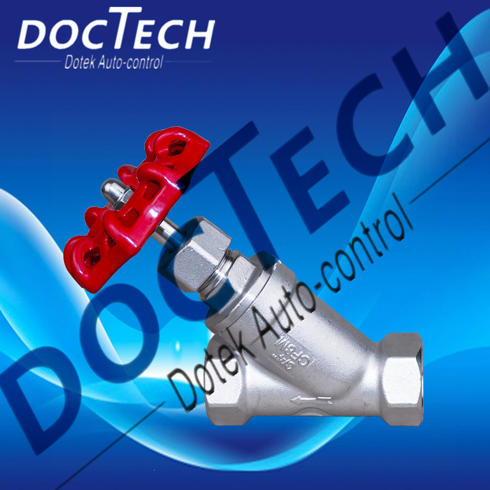 doctech261 cf8 cf8m stainless steel 304 316 thread/flange y type globe valve