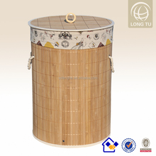 with handles and lining foldable bamboo bamboo storage basket
