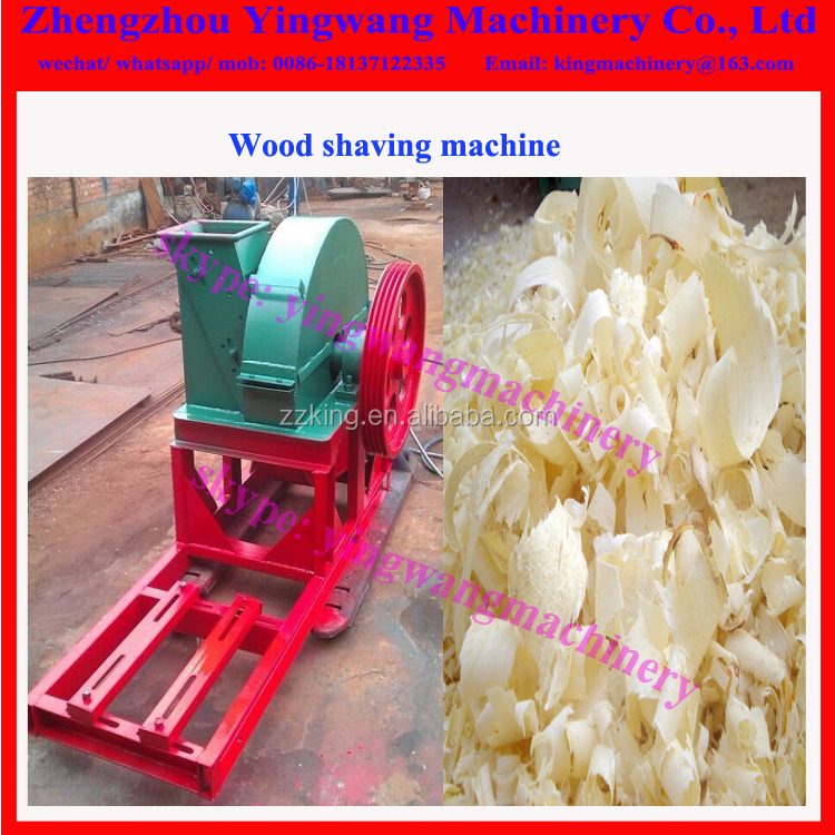 Round log wood shaving machine for horse bed