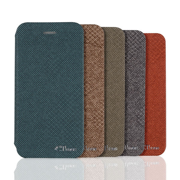 C&T High Quality Wallet Flip Stand Leather Case Canvas Design Protective Cover for iphone 6