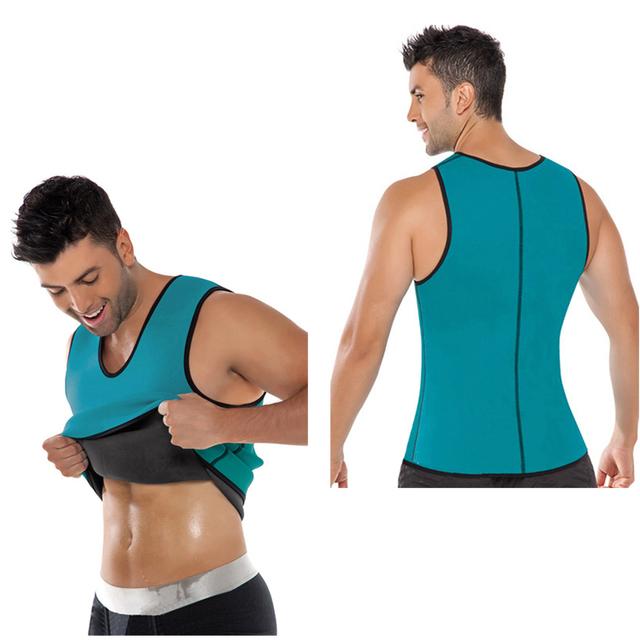 Tummy Slimming Spandex Waist Cincher Mens Body Shaper Vest Weight Loss Corset