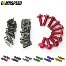 M6 6mm Universal Motorcycle Modified Fairing Bolts Screws Speed Fastener for Honda for Kawasaki for Yamaha for Suzuki for Ducati