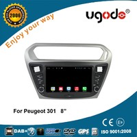 Factory supply 8 inch 16GB car dvd for peugeot 301 navigation