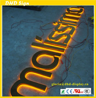 Mirror/polished gold/titanizing/TI stainless steel LED letter/ logo signage with ABS/CE/ROSH Certificate