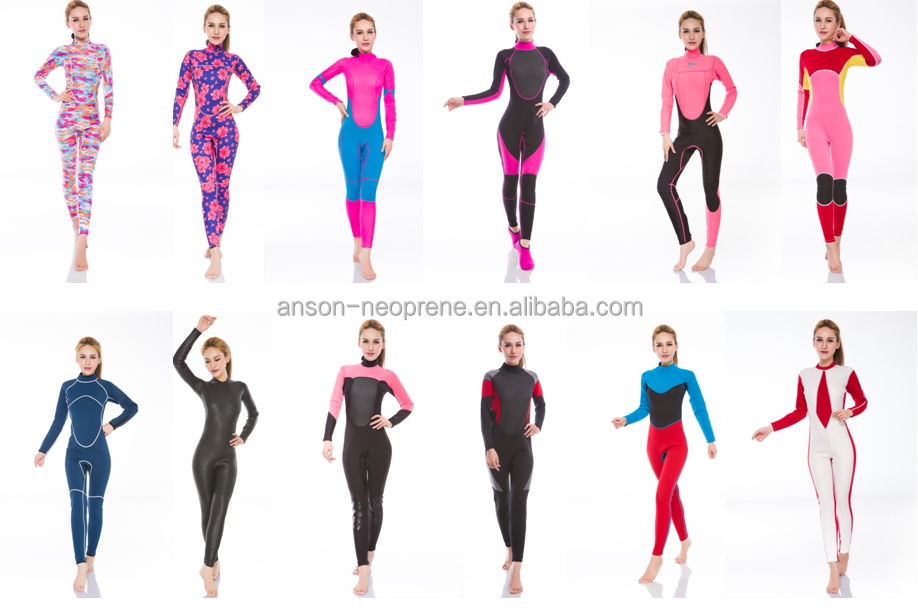 womens neooprene wet suit for water sports surfing/diving/snorkeling/kayaking