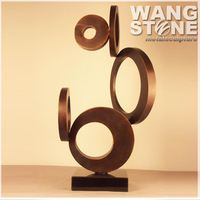 Modern Decorative Metal Brass Circle Sculpture