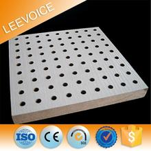 high gloss mdf uv coated acoustic panel perforated sound absorbing board