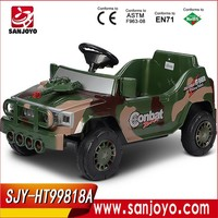 Children ride on racing car Army Combat Tank for boys electric baby car with moveable cannon HT-99818A