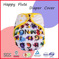 free sample! happy flute baby Print Washable Cloth Diaper Cover TPU cloth nappies