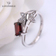 Good quality factory price 925 sterling silver jewelry natural gems stone ring