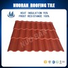 Chinese Rubber Types Of Red Solar Clay Roof Tile