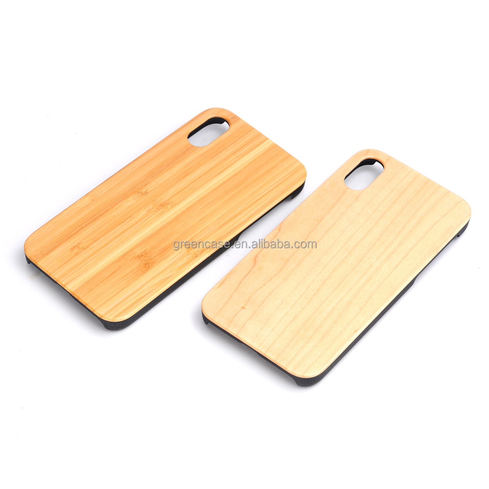 2017 Newest 5 Color Hard PC Pure Wood PC Phone Case for Iphone X