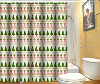 Unique and fancy polyester fabric new models shower curtain