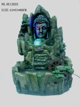 Polyresin Buddhist Led Fountain