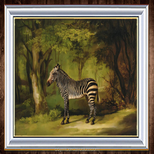 DMT AD Painting Company Wholesale Custom Modern Animal Zebra Oil Painting for Kids on Canvas