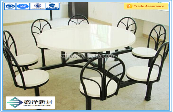 Dependable Performance FRP Chair and Table for Restaurant Canteen