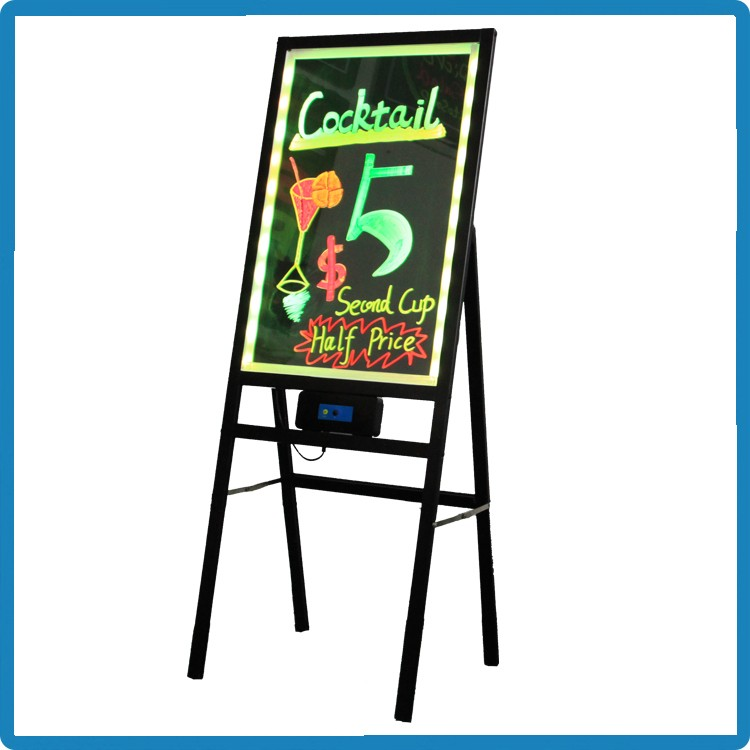 Alibaba Express 60*80 stand independently illuminated menu boards 90 flashing modes remote control led electronic blackboard