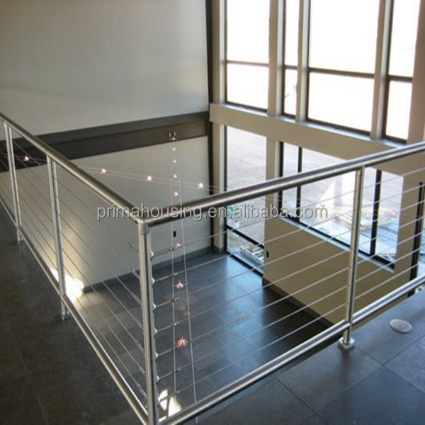 Stainless Steel Wire Railing Wrought Iron Pipe Handrail