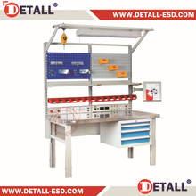 (DETALL) Hot selling Industrial workbench with drawers Lift time warranty