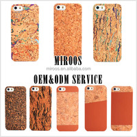 2014 new arrival high end custom design cork pu leather cell phone case cover for apple iphone 5 5s 6 shenzhen factory